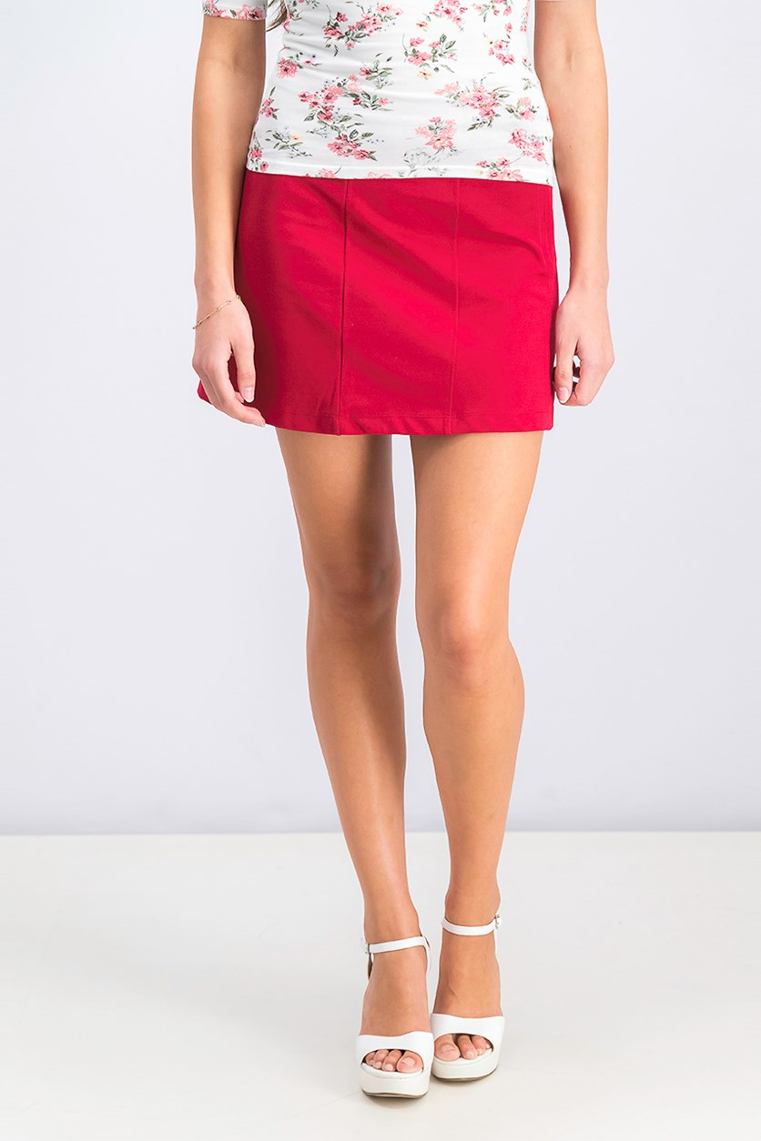 Women's Pull on Pencil Skirt, Red