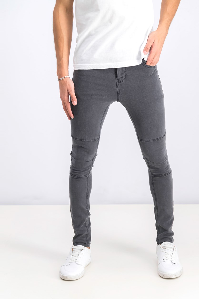 Men's Spray On Skinny Jeans, Dark Gray