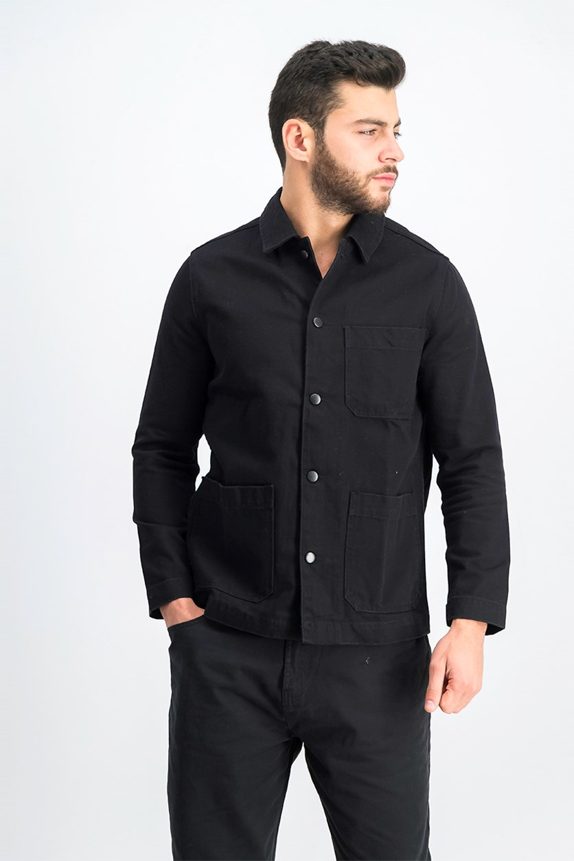 Men's Denim Jacket, Black