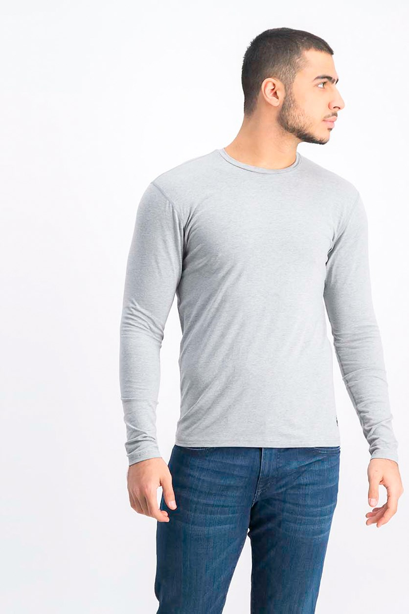 Men's Base-Layer Shirt, Light Grey Heather