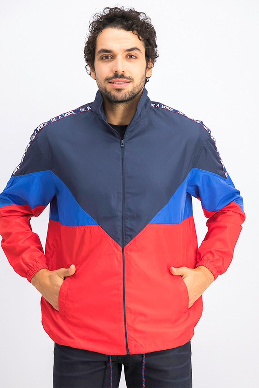 Men's Full Zip Jackets, Red/Navy