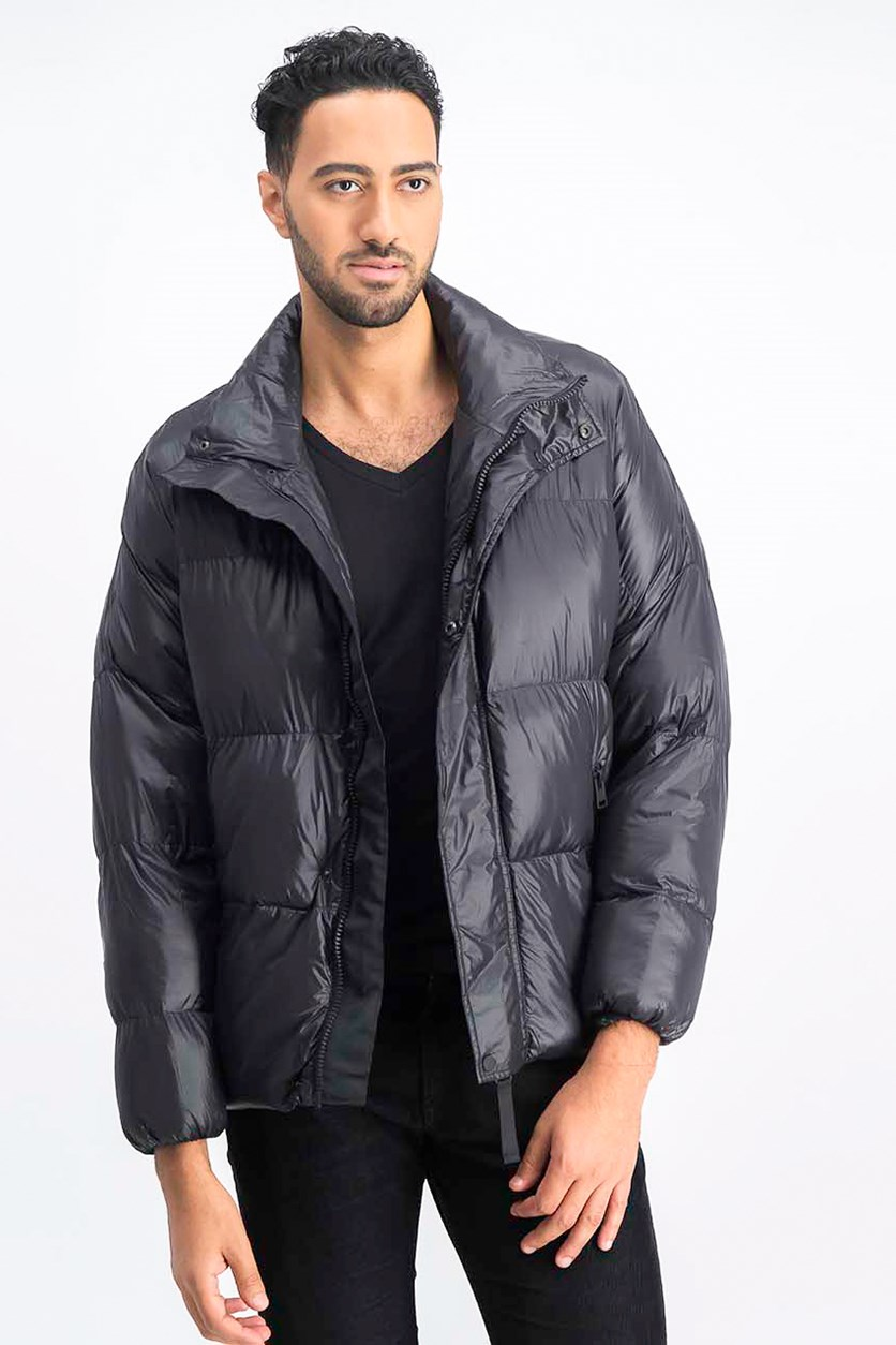 Men's Puffer Jacket, Black