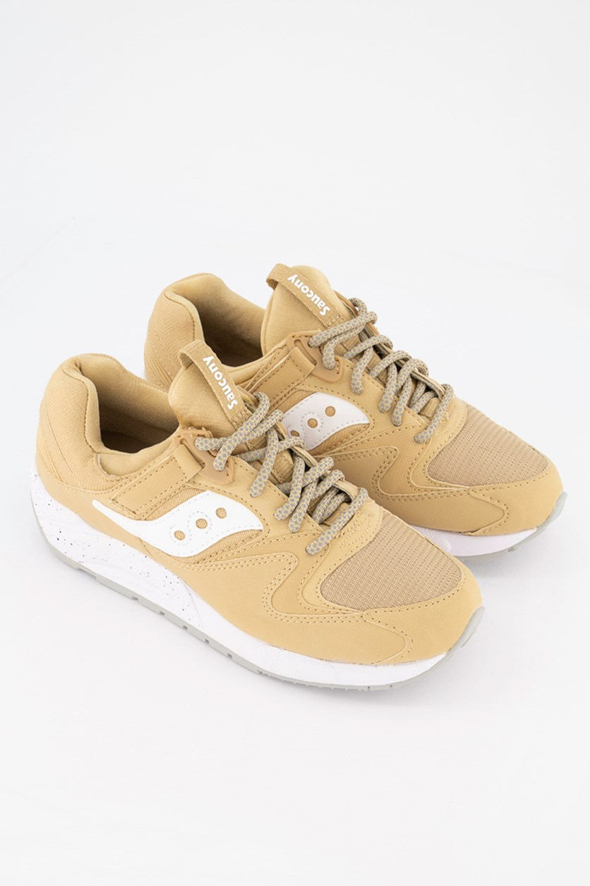 Men's Grid 9000 Trainer Shoes, Wheat/White