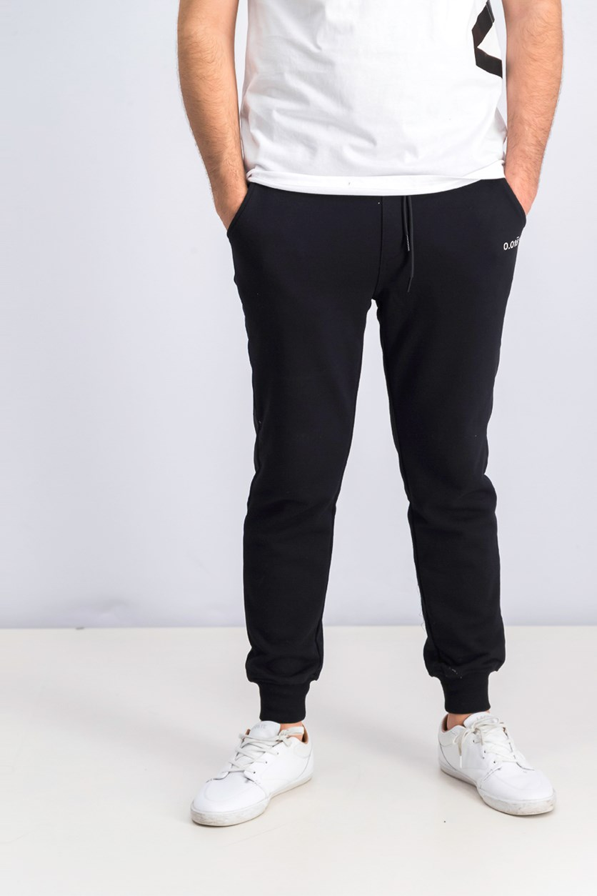 Men's Graphic Pants, Black