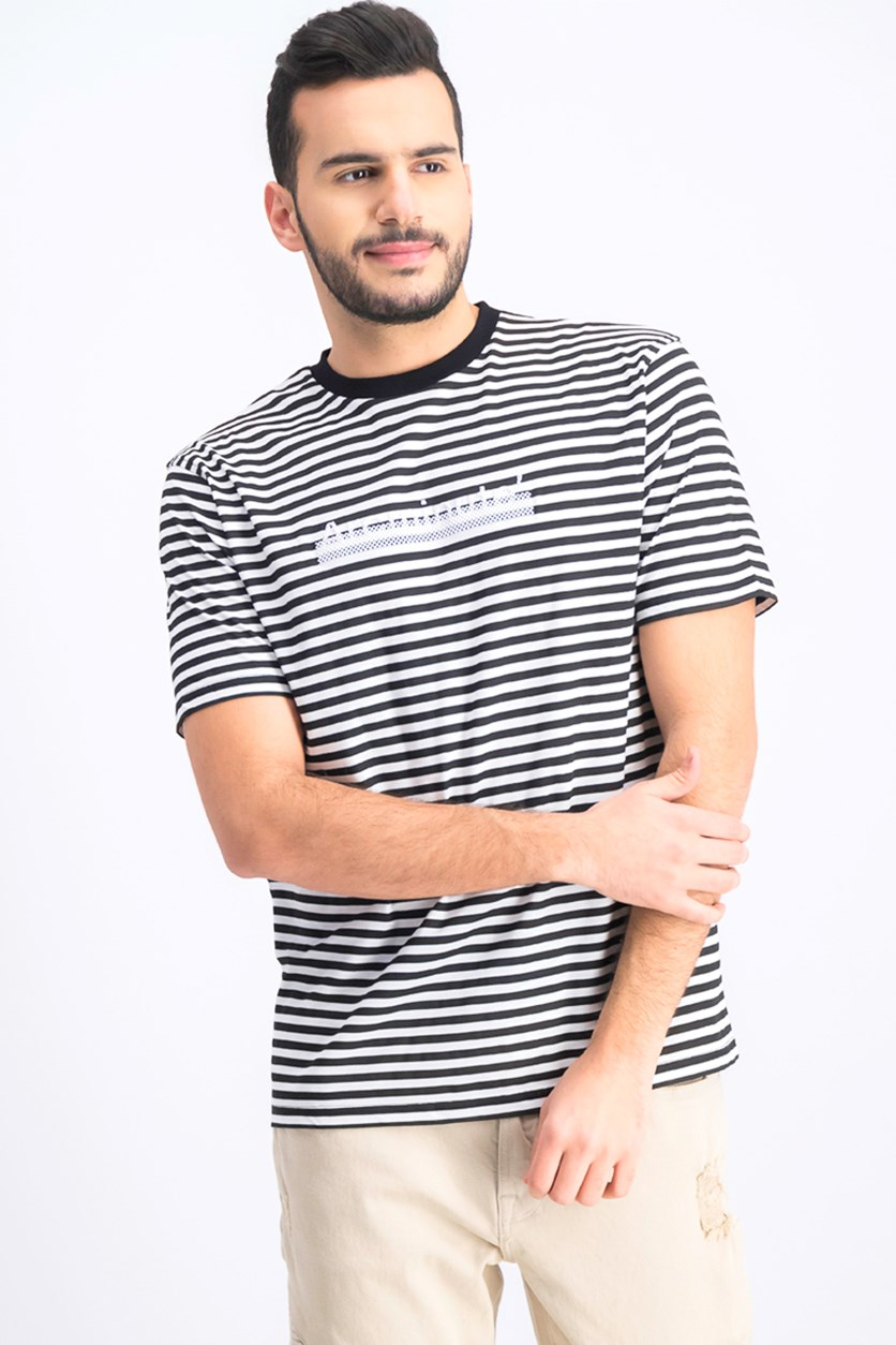 Men's Stripe T-Shirt, Black/White