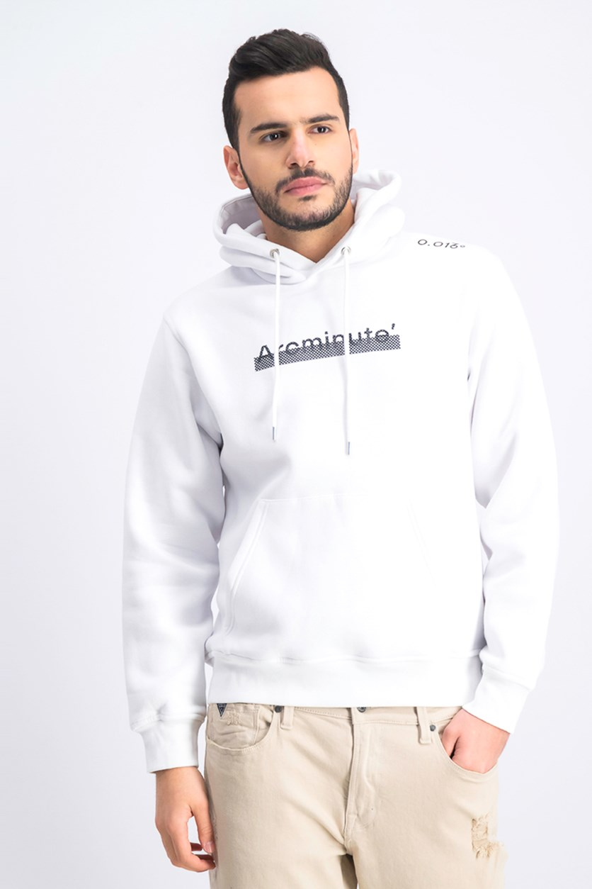 Men's Graphic Hoodie, White
