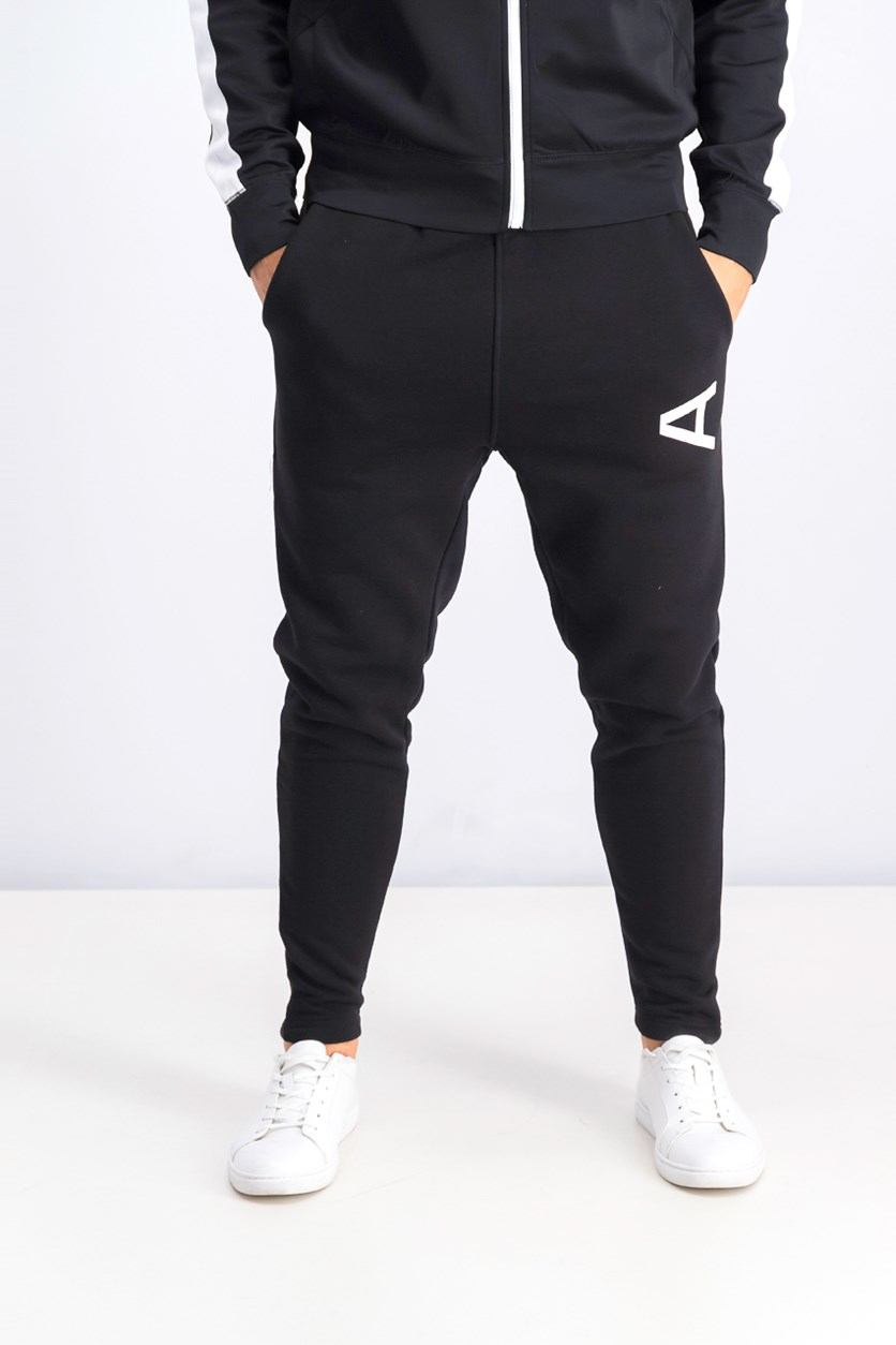 Men's Graphic Jogger Pants, Black