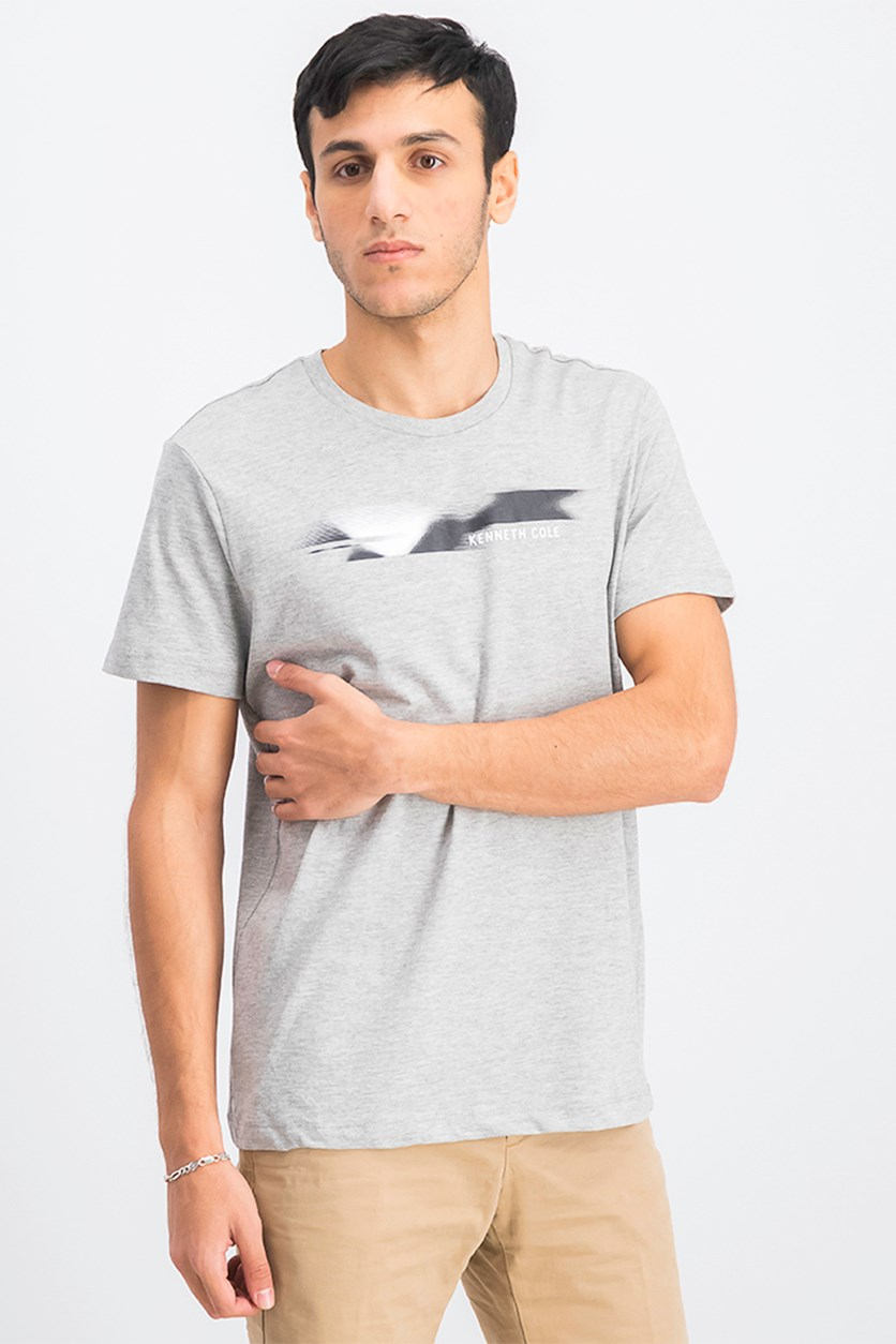 Men's Graphic Printed T-Shirt, Grey