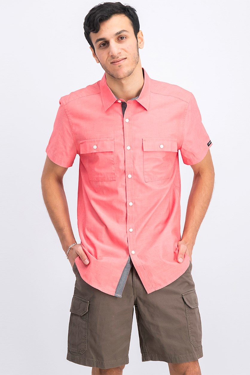 Men's Two Pocket Chest Shirt, Poppy Red