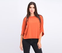 Womens Knit Top, Burn Orange