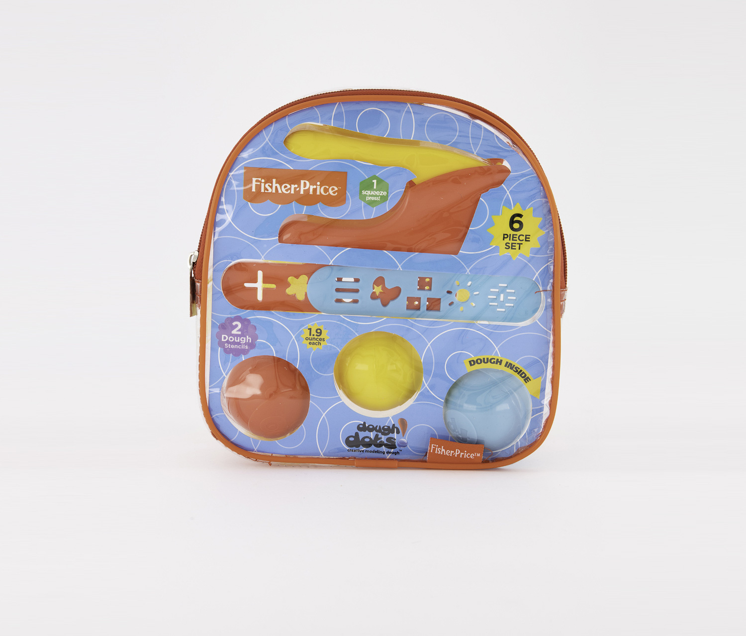 Dough Dots Squeeze & Mold Backpack, Red/Blue/Yellow