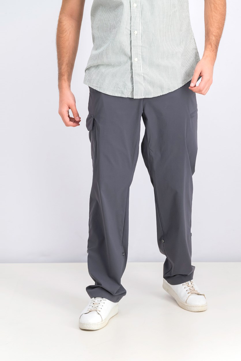 Men's Stretch Roll-Up Pants, Gray