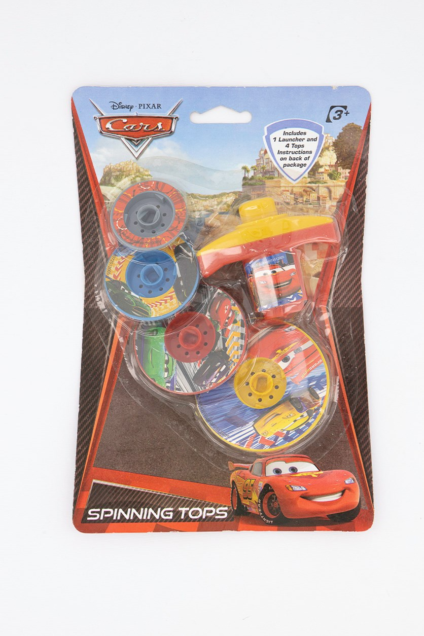Pixar Cars Spinning Tops, Red/Yellow Combo