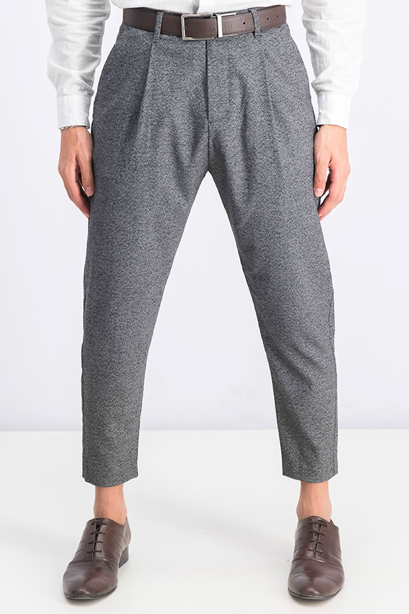 Men's Loose Fit Carrot Trousers, Grey