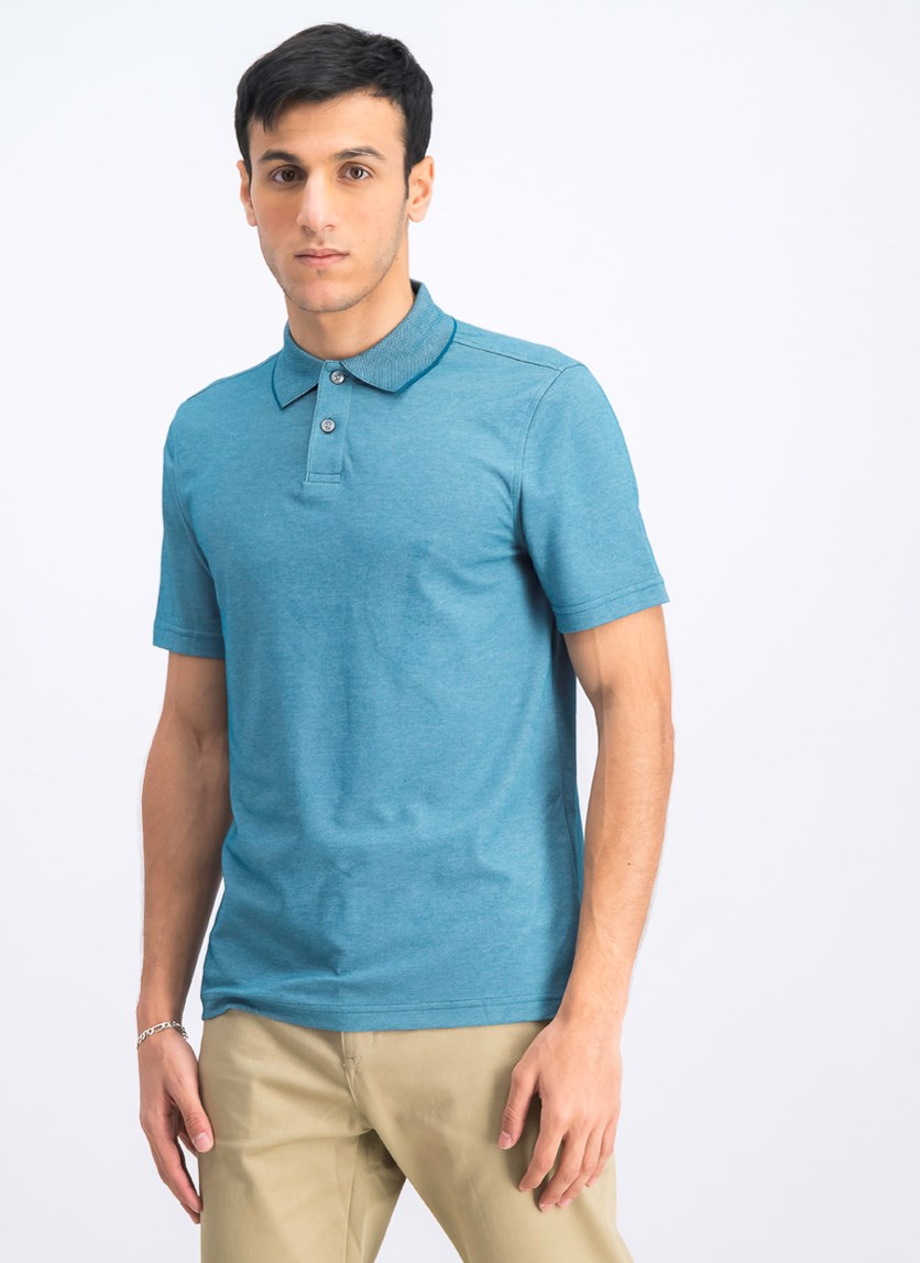 Men's Supima Cotton Polo Shirt, Blue Gem