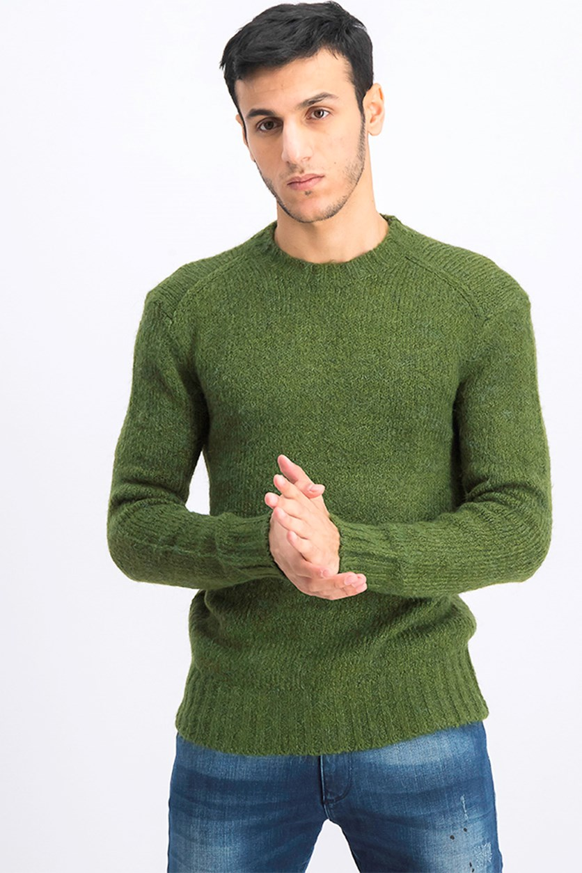 Men's Long Sleeve Sweater, Green