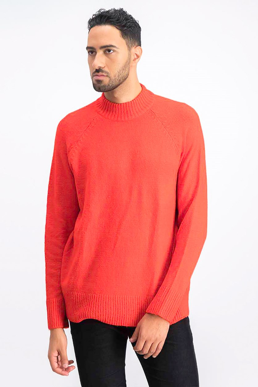 Men's Pullover Sweatshirt, Red