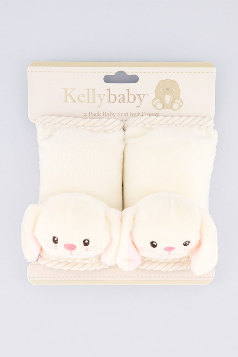 2 Pack Baby Seat Belt Covers, Ivory
