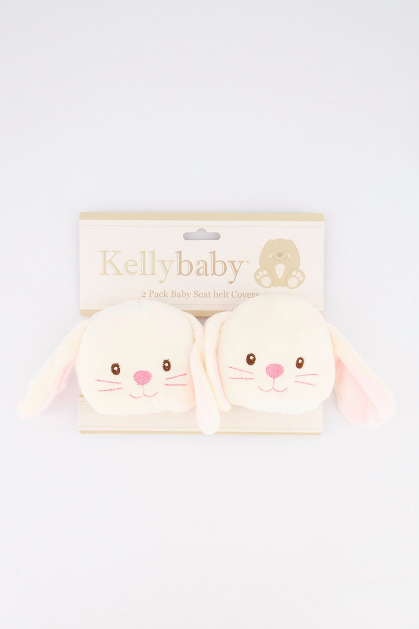 Bunny Baby Seatbelt Covers, Ivory