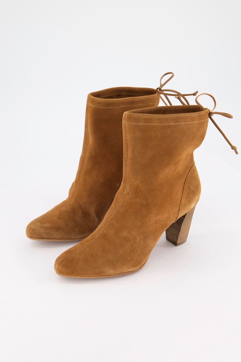 Women's Fortress Ankle Boots, Tan Suede
