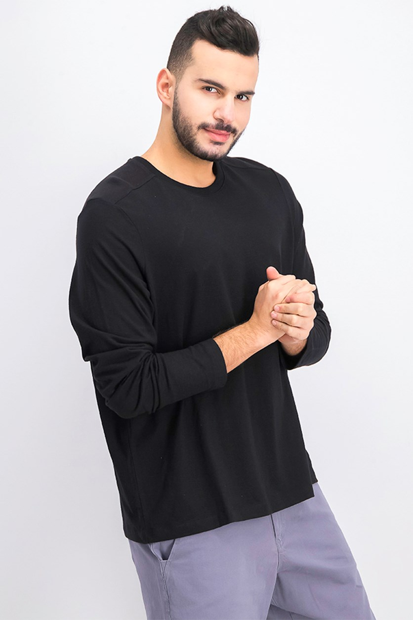 Men's Crewneck Pullover Sweaters, Black