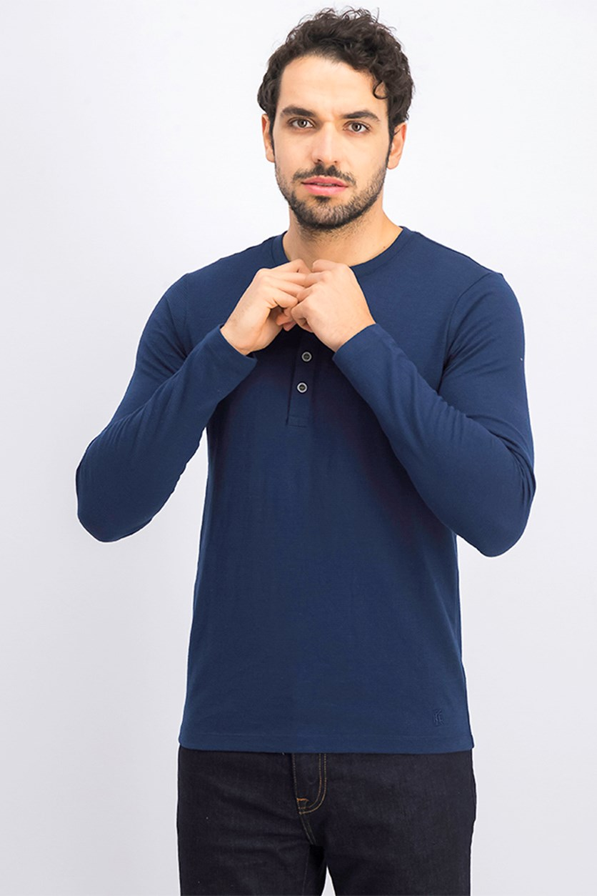 Men's Henley T-Shirt, Navy