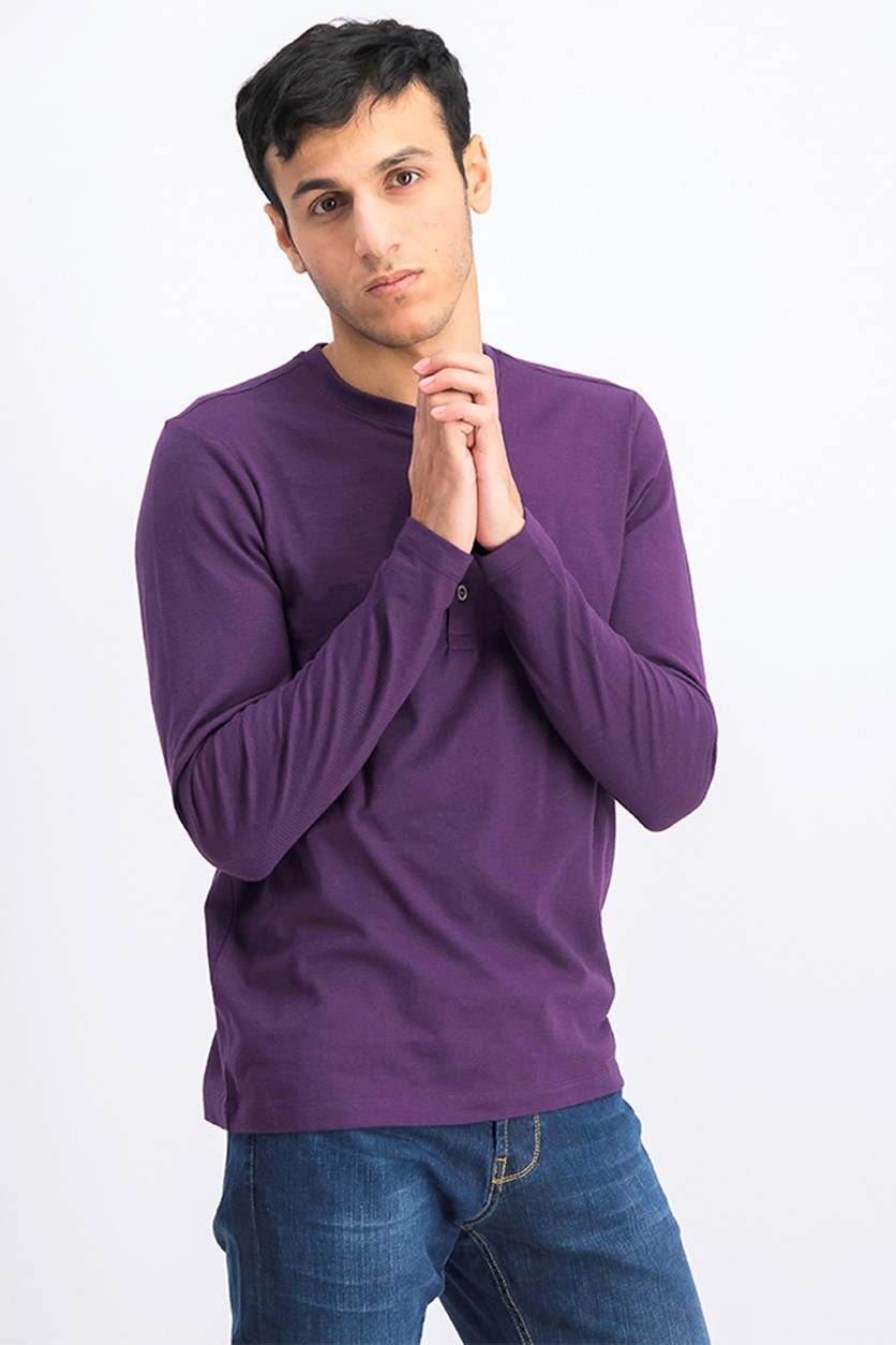 Men's Long Sleeves T-Shirts, Purple