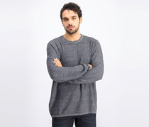 Men's Seed Stitch Sweater, Heather Gray/Black