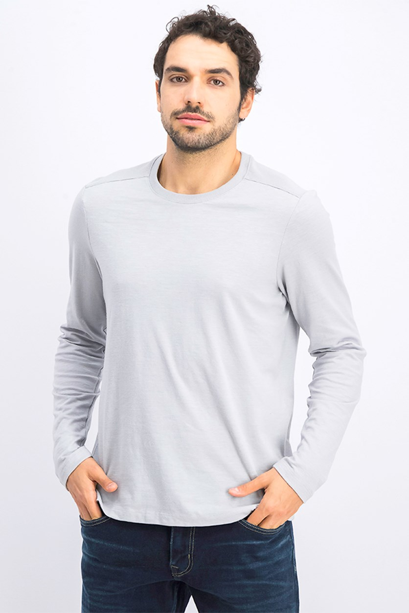 Men's Pullover Sweatshirt, Soft Silver