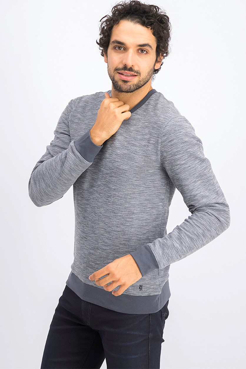 Men's Pullover Sweater, Grey Charcoal