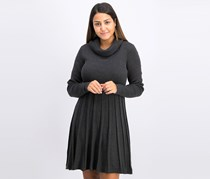 Calvin Klein Cowlneck Sweater Dress, Charcoal
