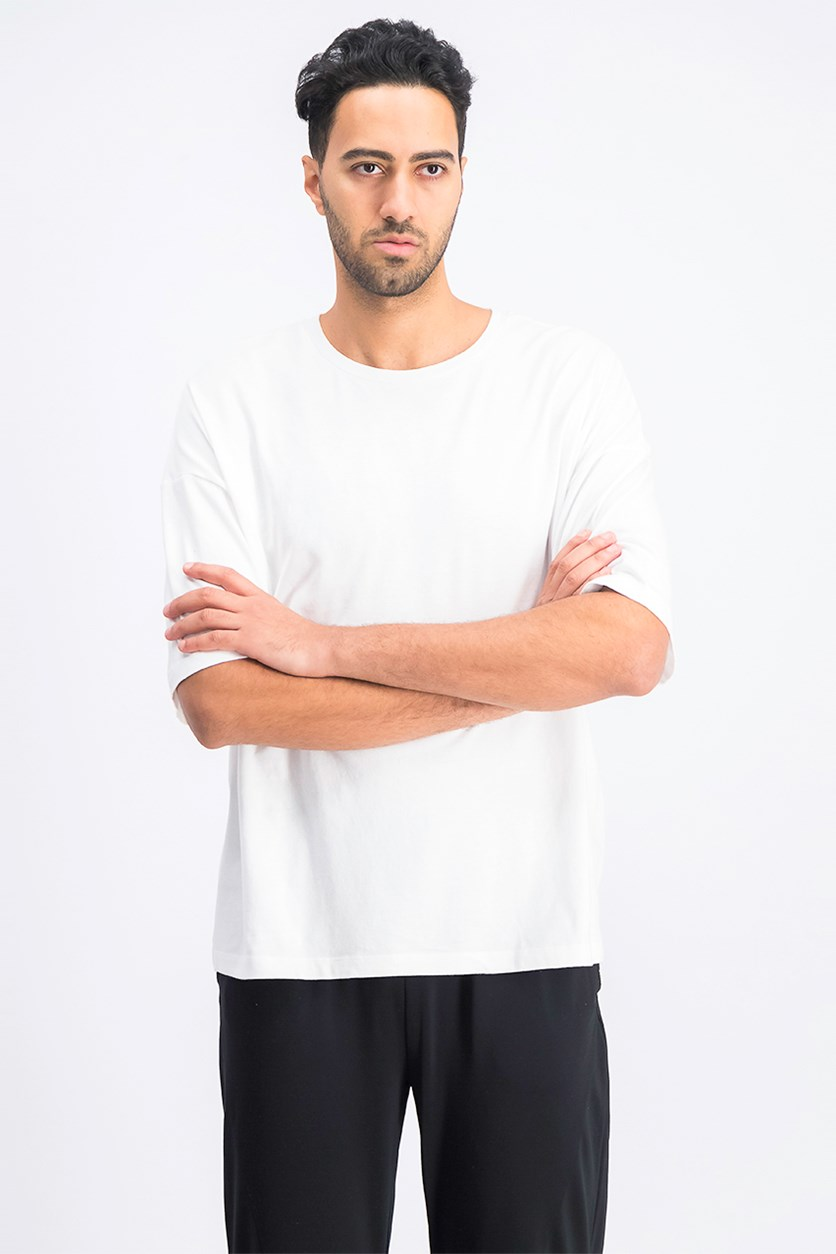 Men's Plain T-Shirt, White