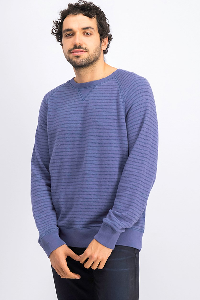 Men's Pullover Sweater, Navy Blue