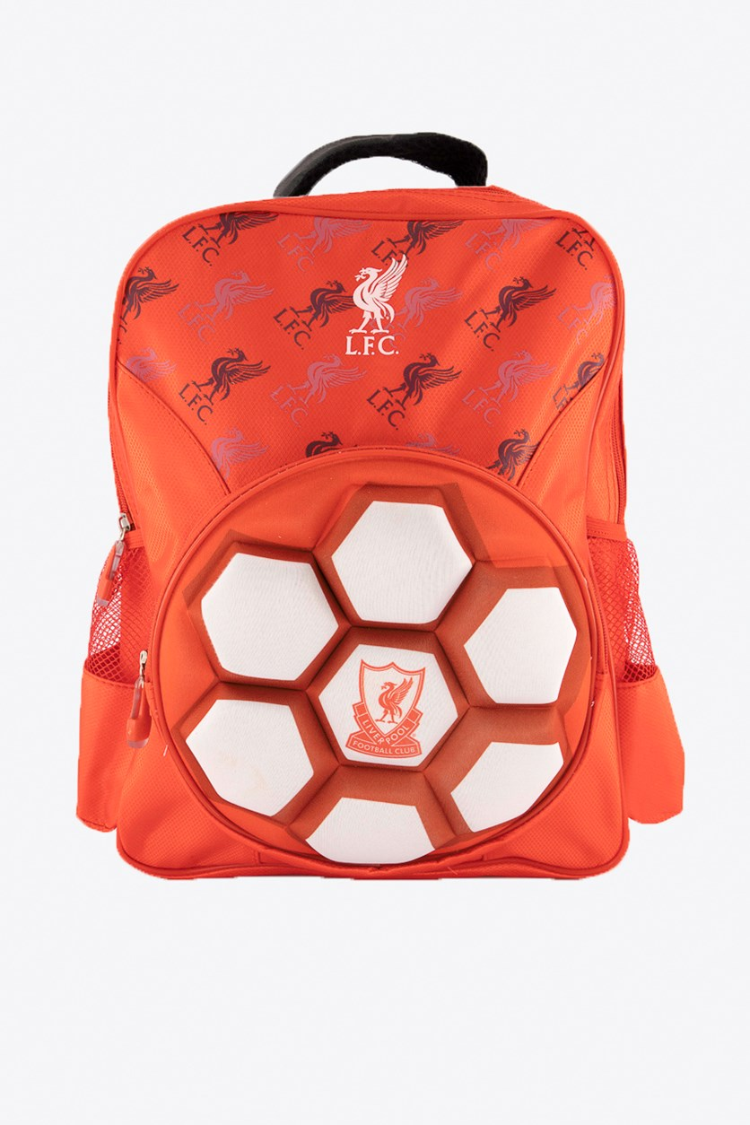 Liverpool Raised Ball Backpack, Red