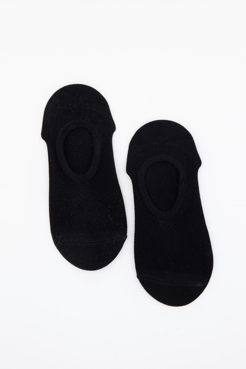 Women's 2 Pack Matte Microfiber Liner No-Show Sock, Black