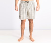 Men's Drawstring Shorts, Black/Beige Combo