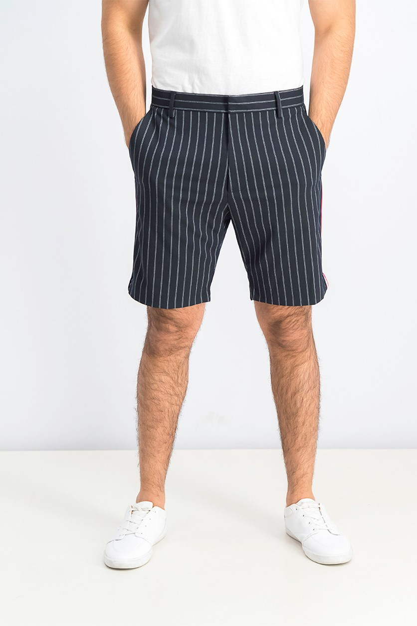 Mens Stripe Bermuda Short, Navy