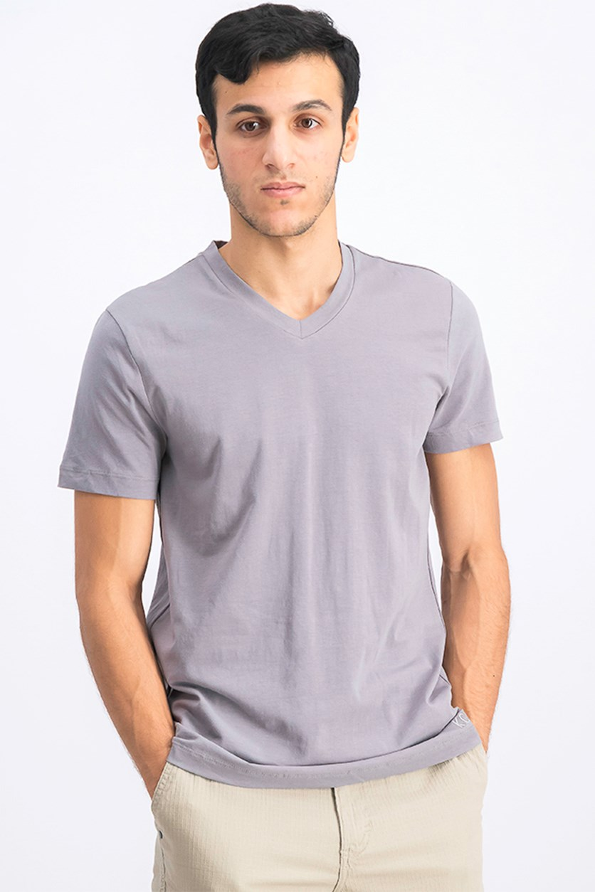 Men's V-Neck T-shirt, Dim Gray