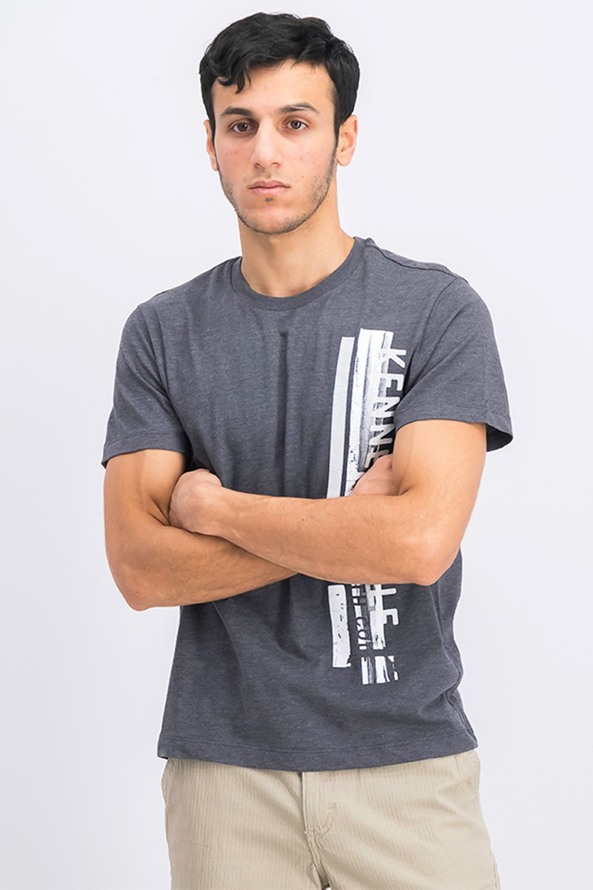 Men's Printed T-Shirt, Dark Grey