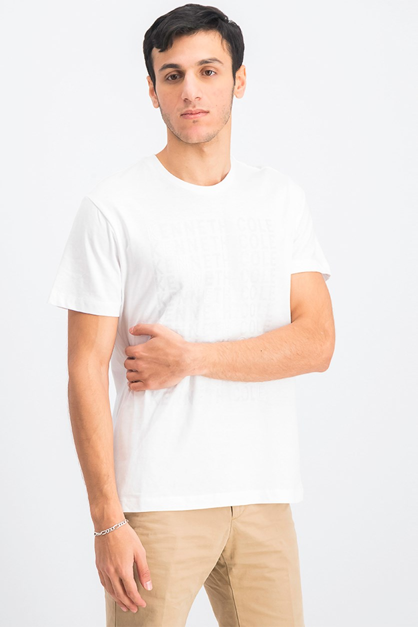 Men's Graphic Brand Short Sleeve T-Shirt, White