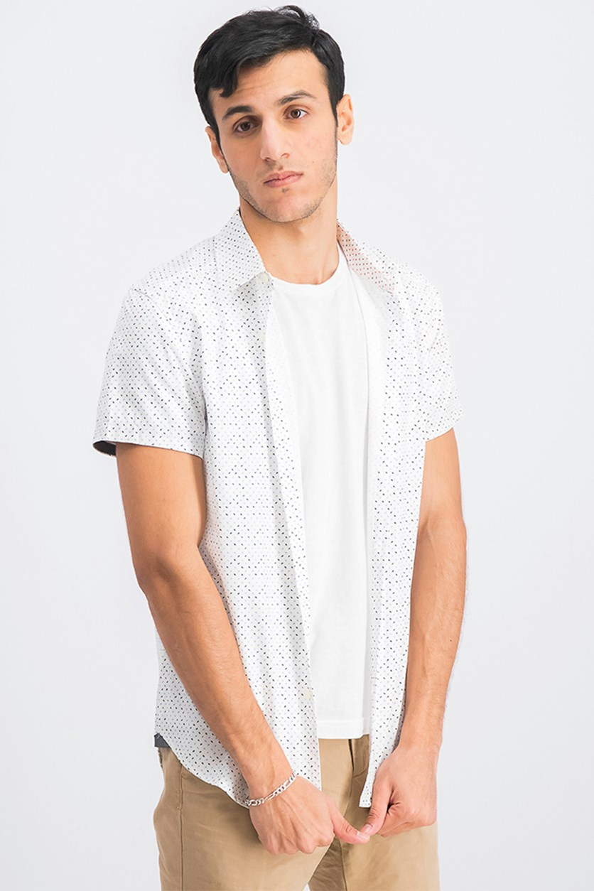 Men's Mini Paint Swish Shirt, White