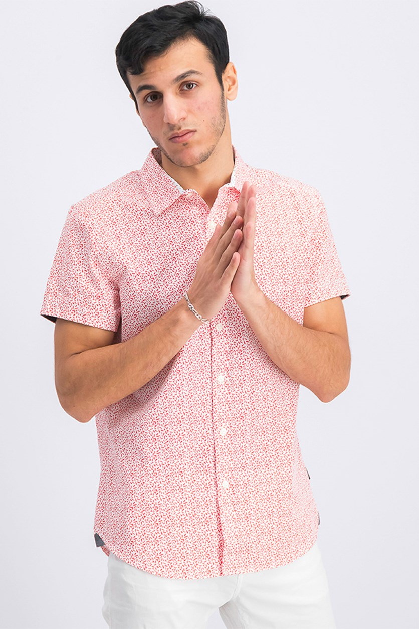 Men's Allover Print Shirt, Cayenne