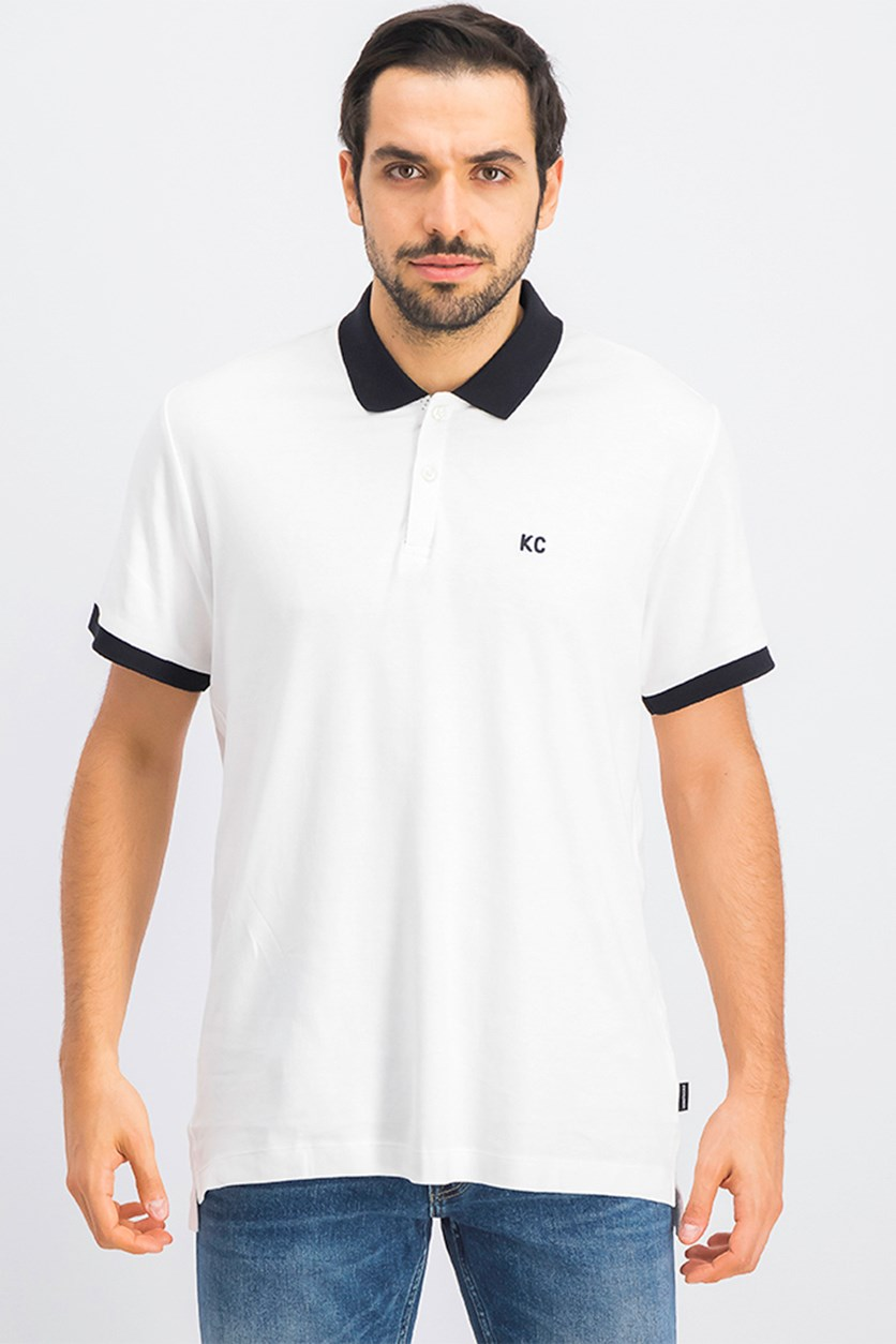 Men's Short Sleeve Polo Shirt, White