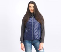 Women's Quilted Hooded Vest, Navy