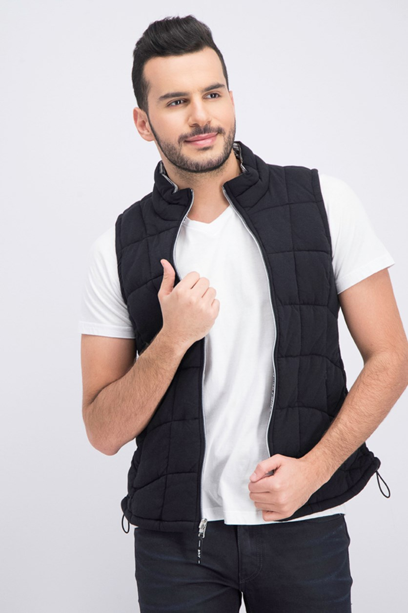Men's Sleeveless Vest, Black