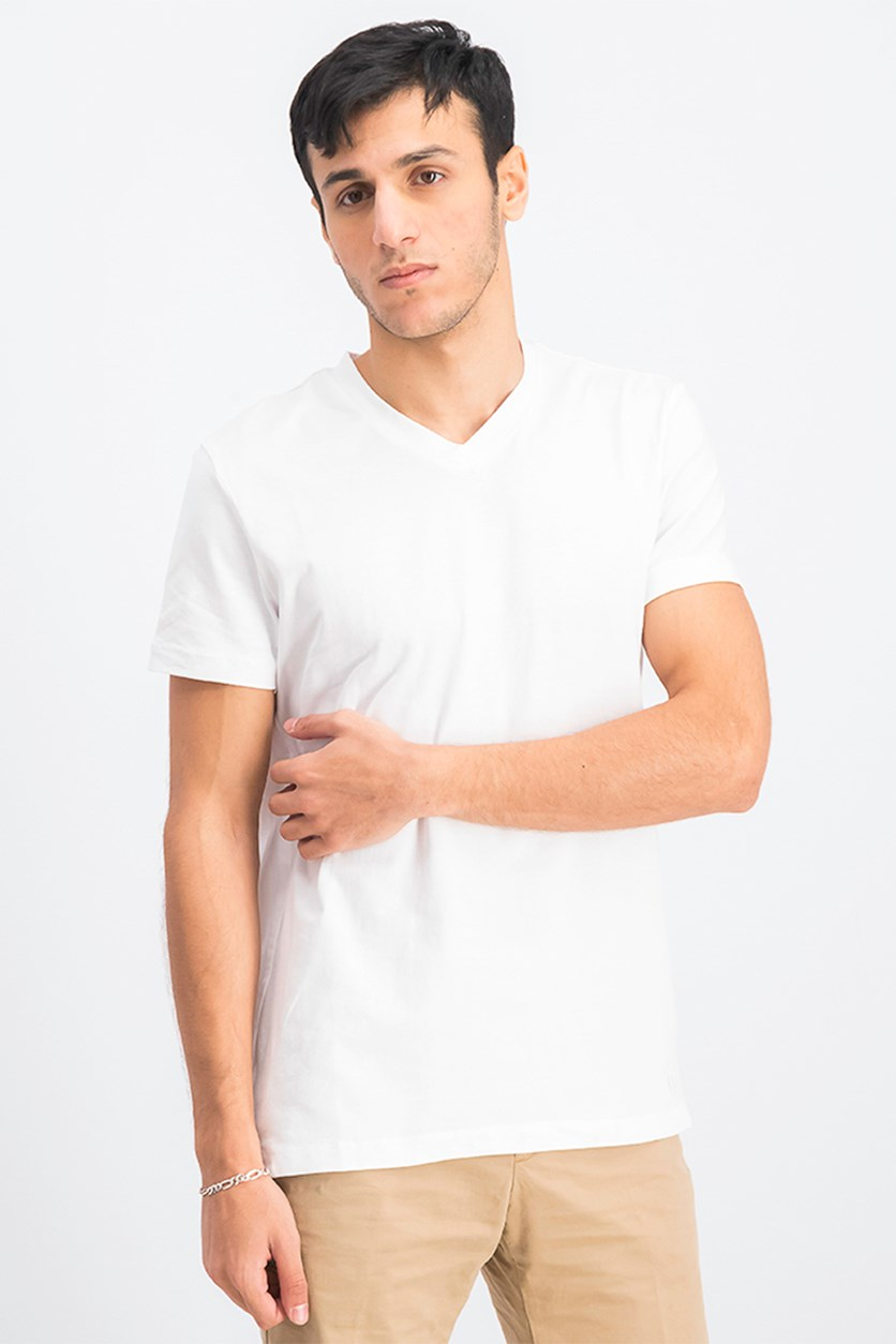 Men's V-Neck Short Sleeve T-Shirt, White