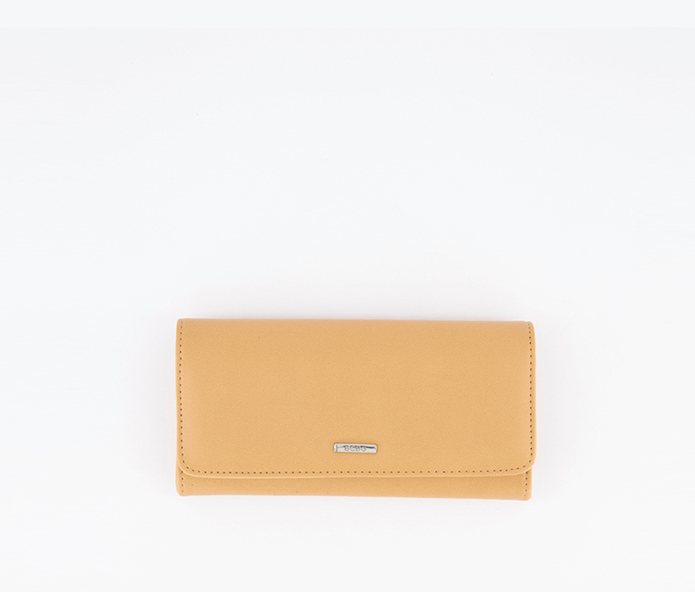 Women's Zahara Flap Wallet, Latte