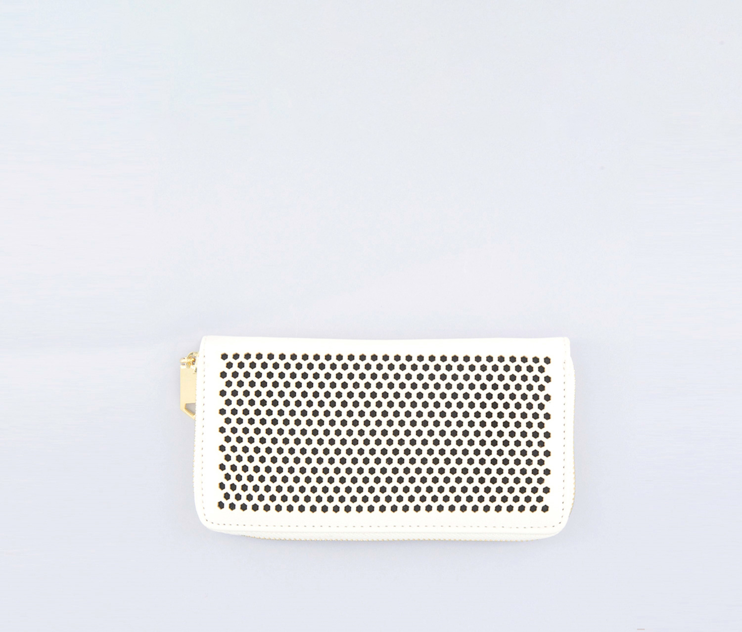 Women's Textured Wallet, White