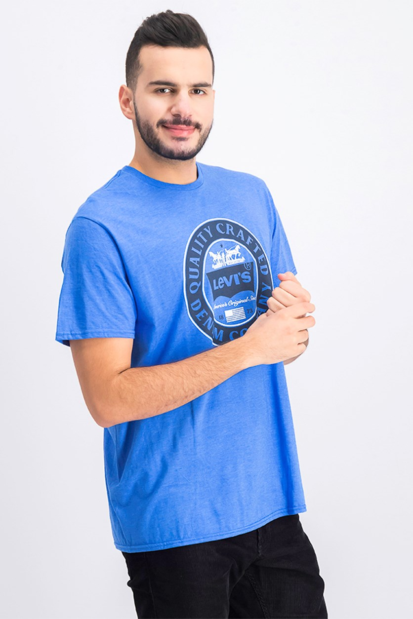Men's Graphic Premium Tee, Blue