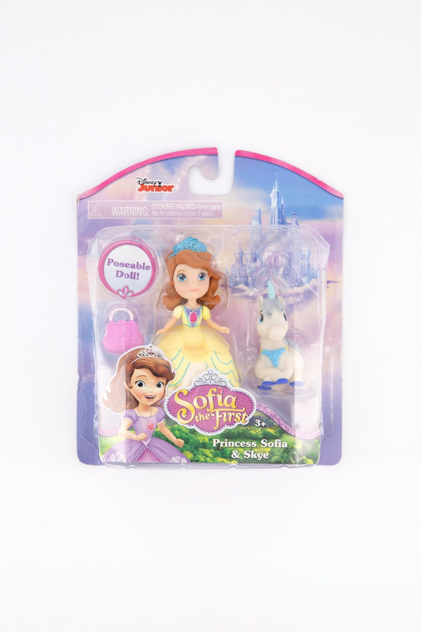 Sofia the First Doll Sofia and Skye, Yellow/Brown